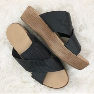 Coconuts by Matisse Study Wedge Slides Sandals